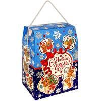 Новогодний подарок с конфетами Мишка Тедди 500гр картон