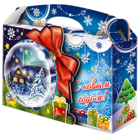 "Сладкий новогодний подарок  ""Снежный шар"" 1000гр"