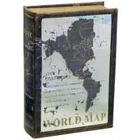 "Сладкий подарок книга-шкатулка ""World Map"" 1000гр"