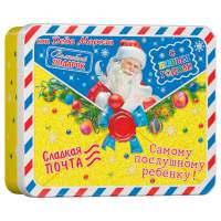 Новогодний подарок с конфетами Письмо жестяное 300 гр